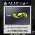 Hot Wheels Suzuki D1 Decal Sticker Yellow Vinyl Black 120x120