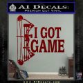 I Got Game Compound Bow Archery Deer Decal Sticker DRD Vinyl 120x120