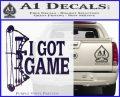 I Got Game Compound Bow Archery Deer Decal Sticker PurpleEmblem Logo 120x97