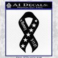 In Memory Of 9 11 Ribbon Decal Sticker Black Vinyl 120x120