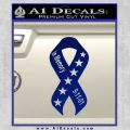 In Memory Of 9 11 Ribbon Decal Sticker Blue Vinyl 120x120