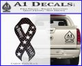 In Memory Of 9 11 Ribbon Decal Sticker Carbon FIber Black Vinyl 120x97