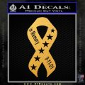 In Memory Of 9 11 Ribbon Decal Sticker Gold Vinyl 120x120