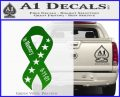 In Memory Of 9 11 Ribbon Decal Sticker Green Vinyl Logo 120x97