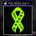 In Memory Of 9 11 Ribbon Decal Sticker Lime Green Vinyl 120x120