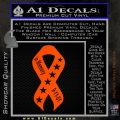 In Memory Of 9 11 Ribbon Decal Sticker Orange Emblem 120x120
