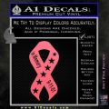 In Memory Of 9 11 Ribbon Decal Sticker Pink Emblem 120x120