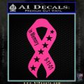 In Memory Of 9 11 Ribbon Decal Sticker Pink Hot Vinyl 120x120
