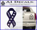 In Memory Of 9 11 Ribbon Decal Sticker PurpleEmblem Logo 120x97
