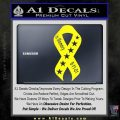 In Memory Of 9 11 Ribbon Decal Sticker Yellow Laptop 120x120