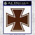 Iron Cross 1 Decal Sticker BROWN Vinyl 120x120