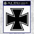 Iron Cross 1 Decal Sticker Black Vinyl 120x120