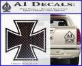 Iron Cross 1 Decal Sticker Carbon FIber Black Vinyl 120x97