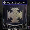 Iron Cross 1 Decal Sticker Carbon FIber Chrome Vinyl 120x120