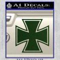 Iron Cross 1 Decal Sticker Dark Green Vinyl 120x120