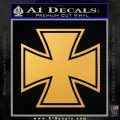 Iron Cross 1 Decal Sticker Gold Vinyl 120x120