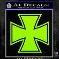 Iron Cross 1 Decal Sticker Lime Green Vinyl 120x120