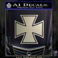 Iron Cross 1 Decal Sticker Metallic Silver Emblem 120x120