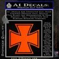 Iron Cross 1 Decal Sticker Orange Emblem 120x120