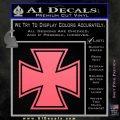 Iron Cross 1 Decal Sticker Pink Emblem 120x120