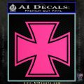 Iron Cross 1 Decal Sticker Pink Hot Vinyl 120x120