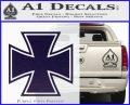 Iron Cross 1 Decal Sticker PurpleEmblem Logo 120x97