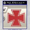 Iron Cross 1 Decal Sticker Red 120x120
