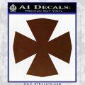 Iron Cross Decal Celtic Sticker D10 BROWN Vinyl 120x120