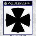 Iron Cross Decal Celtic Sticker D10 Black Vinyl 120x120