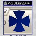 Iron Cross Decal Celtic Sticker D10 Blue Vinyl 120x120