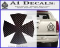 Iron Cross Decal Celtic Sticker D10 Carbon FIber Black Vinyl 120x97