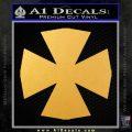 Iron Cross Decal Celtic Sticker D10 Gold Vinyl 120x120