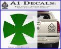 Iron Cross Decal Celtic Sticker D10 Green Vinyl Logo 120x97