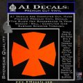 Iron Cross Decal Celtic Sticker D10 Orange Emblem 120x120