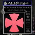 Iron Cross Decal Celtic Sticker D10 Pink Emblem 120x120