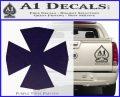 Iron Cross Decal Celtic Sticker D10 PurpleEmblem Logo 120x97