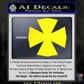 Iron Cross Decal Celtic Sticker D10 Yellow Laptop 120x120
