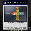 Iron Cross Decal Celtic Sticker D11 Glitter Sparkle 120x120