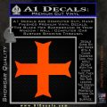 Iron Cross Decal Celtic Sticker D11 Orange Emblem 120x120
