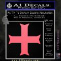 Iron Cross Decal Celtic Sticker D11 Pink Emblem 120x120