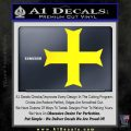 Iron Cross Decal Celtic Sticker D11 Yellow Laptop 120x120