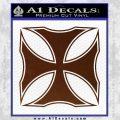 Iron Cross Decal Celtic Sticker D2 BROWN Vinyl 120x120