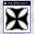 Iron Cross Decal Celtic Sticker D2 Black Vinyl 120x120