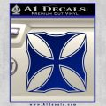 Iron Cross Decal Celtic Sticker D2 Blue Vinyl 120x120