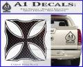 Iron Cross Decal Celtic Sticker D2 Carbon FIber Black Vinyl 120x97