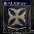 Iron Cross Decal Celtic Sticker D2 Carbon FIber Chrome Vinyl 120x120