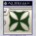 Iron Cross Decal Celtic Sticker D2 Dark Green Vinyl 120x120