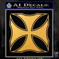 Iron Cross Decal Celtic Sticker D2 Gold Vinyl 120x120