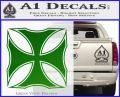 Iron Cross Decal Celtic Sticker D2 Green Vinyl Logo 120x97