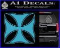 Iron Cross Decal Celtic Sticker D2 Light Blue Vinyl 120x97
